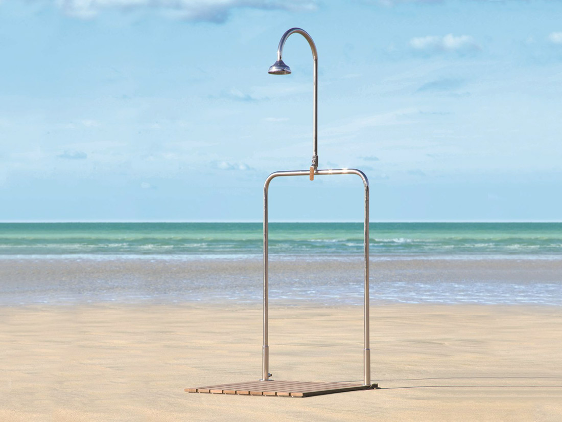 delta outdoor shower tectona