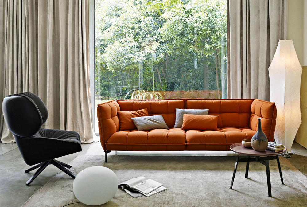 husk sofa by b&b italia
