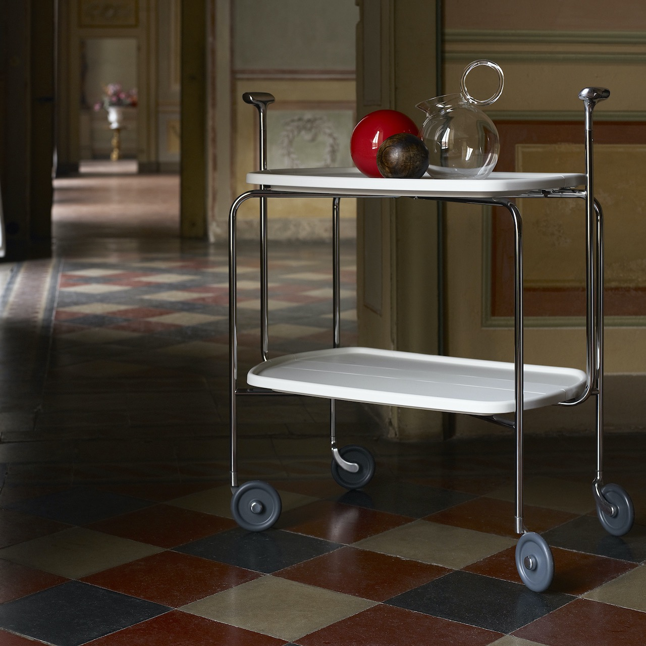 Carrello Transit, design David Mellor 1998, Magis